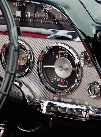 classic automobile dashboard