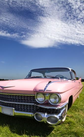 Pink Cadillac - Blue Sky - Green Grass