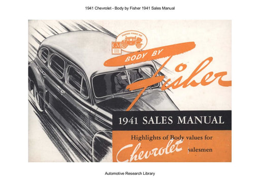 1941 Chevrolet   Body by Fisher Sales Manual (44pgs)