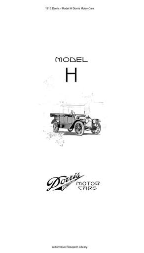 1913 Dorris   Model H Motor Cars (4pgs)