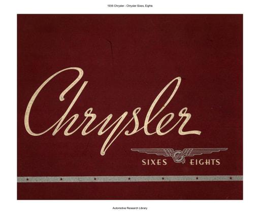 1936 Chrysler   Sixes, Eights (30pgs)