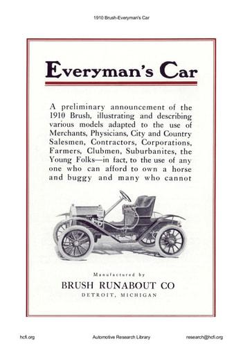 1910 Brush   Everyman's Car (8pgs)