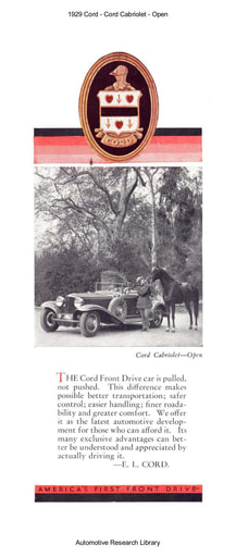 1929 Cord   Cabriolet Open (8pgs)