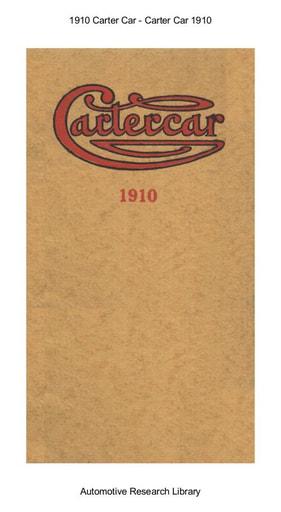 1910 Carter Car (13pgs)