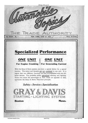 Auto Topics | 1914 Jun 27