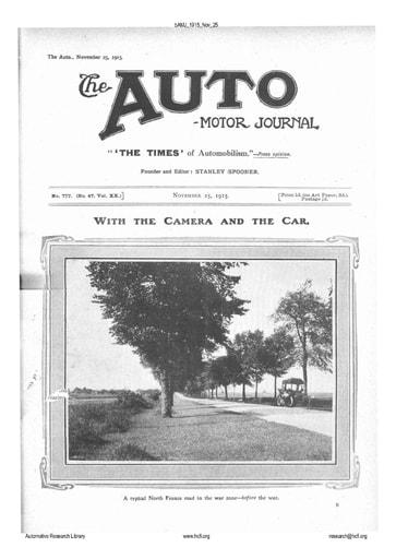 Auto Motor Journal | 1915 Nov 25