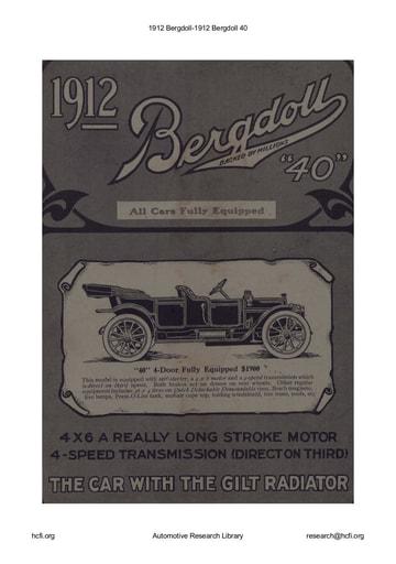 1912 Bergdoll   40 (6pgs)