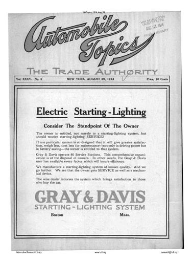 Auto Topics | 1914 Aug 29