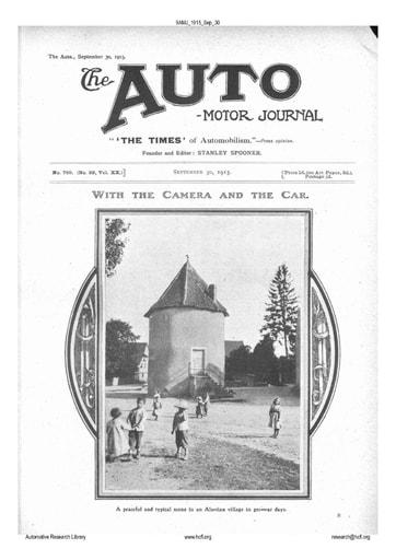 Auto Motor Journal | 1915 Sep 30