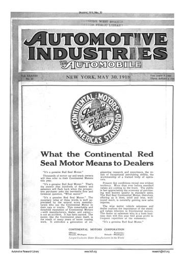 Auto Industries 1918 05 30