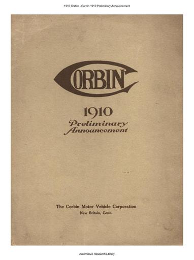 1910 Corbin   Preliminary Announcement (5pgs)