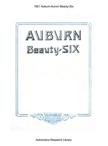 1921 Auburn   Beauty Six (4pgs)