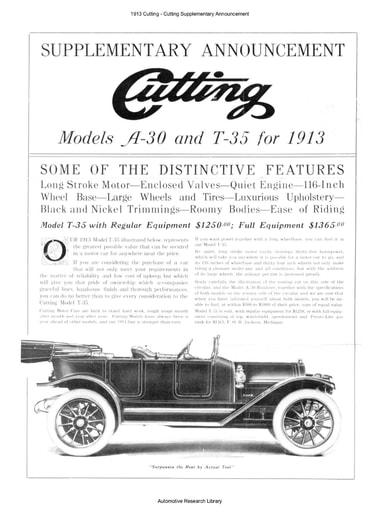 1913 Cutting   Supplementary Announcement (2pgs)