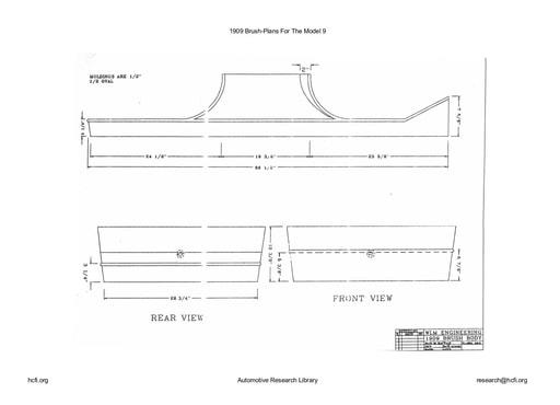 1909 Brush   Plans For The Model 9 (7pgs)