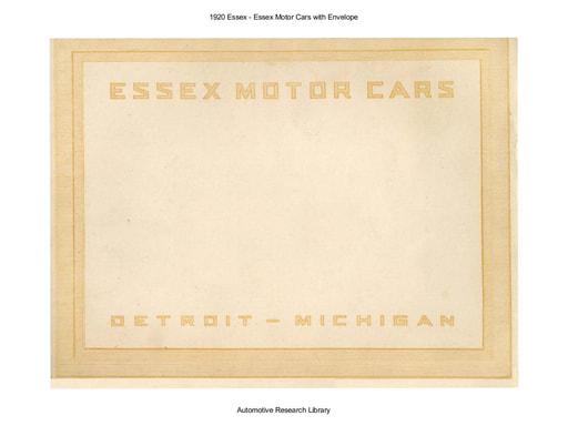 1920 Essex   Envelope (14pgs)