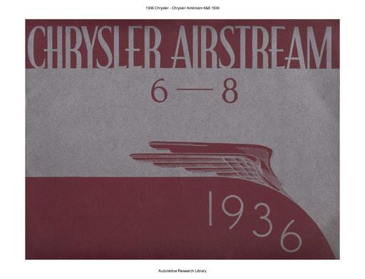 1936 Chrysler   Airstream 6&8 (15pgs)