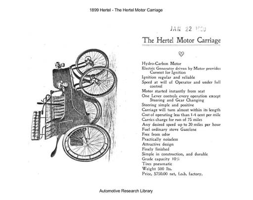 1899 Hertel Motor Carriage (10pgs)