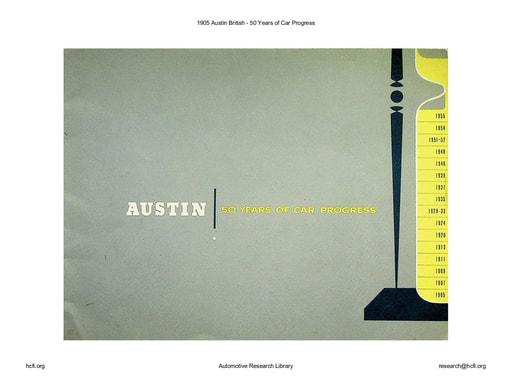 1905 Austin British   50 Years of Car Progress (38pgs)