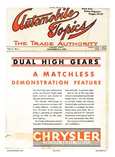 Auto Topics | 1930 Nov 08
