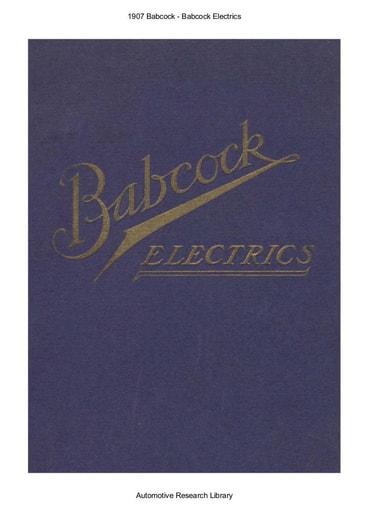 1907 Babcock   Electrics (16pgs)