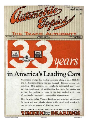 Auto Topics | 1931 Aug 29