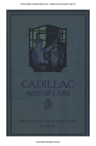 1918 Cadillac   Motor Cars   Details of Construction Type 57 (33pgs)