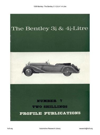 1939 Bentley  The 3 1 2 & 4 1 4 Litre (12pgs)