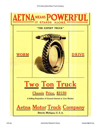 1913 Aetna Motor Truck Co (4pgs)