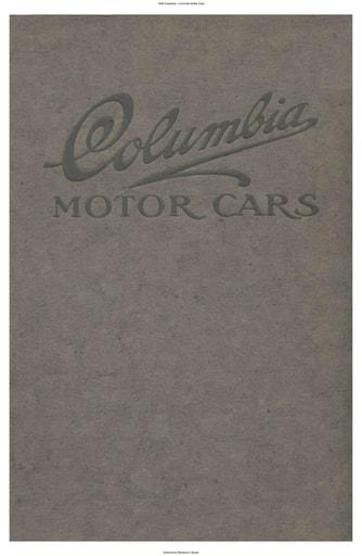 1908 Columbia Motor Cars (32pgs)