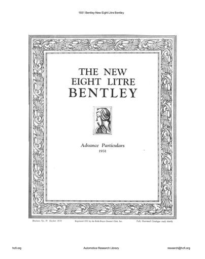 1931 Bentley   New Eight Litre (15pgs)