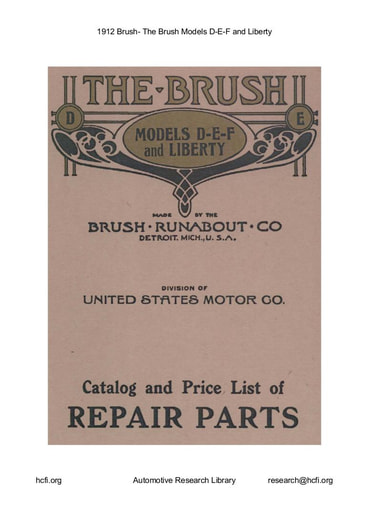 1912 Brush   Models D E F and Liberty (45pgs)