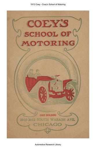 1912 Coey   School of Motoring (40pgs)