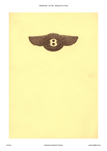 1929 Bentley   Winged 'B' (17pgs)