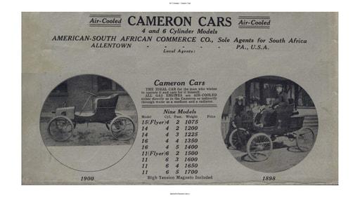 1910 Cameron Cars (12pgs)