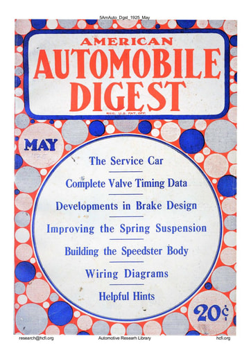 American Automobile Digest - 1925 May