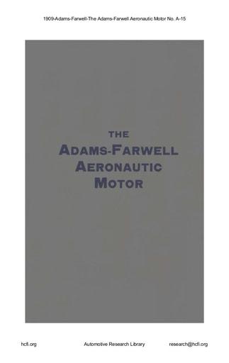 1909 Adams Farwell   Aeronautic Motor No  A 15 (18pgs)
