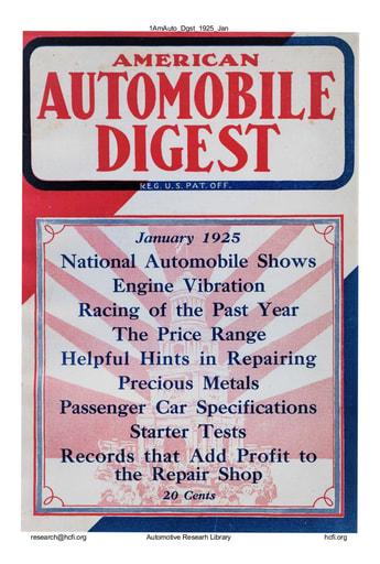 American Automobile Digest - 1925 January