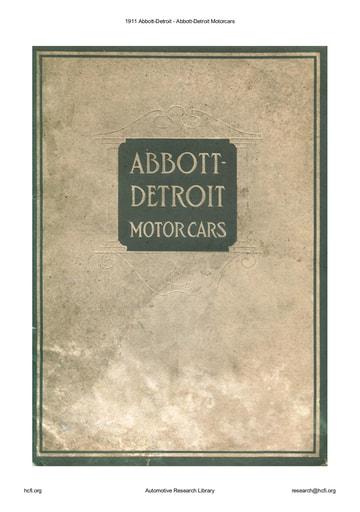 1911 Abbott Detroit   Motorcars (31pgs)