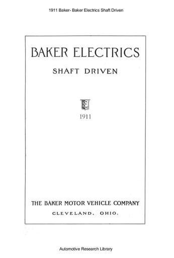 1911 Baker   Electrics Shaft Driven (29pgs)