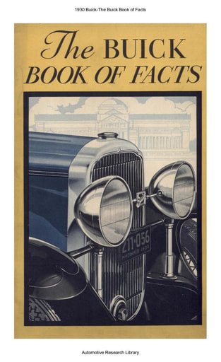 1930 Buick   Book of Facts (31pgs)