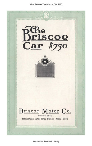 1914 Briscoe Car $750 (3pgs)