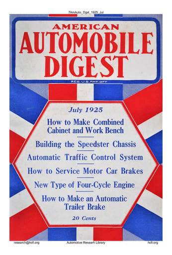 American Automobile Digest - 1925 July