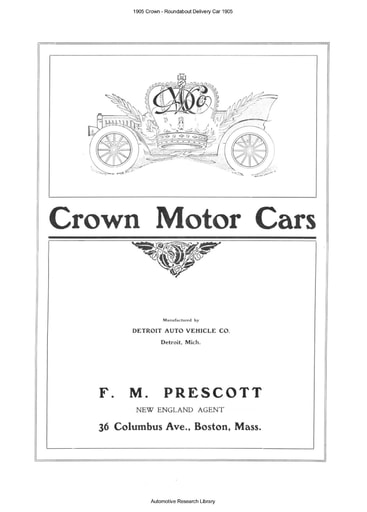 1905 Crown Roundabout Delivery Car (4pgs)