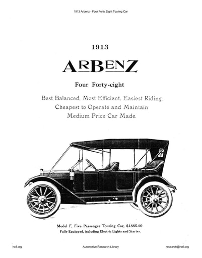 1913 Arbenz   Four Forty Eight Touring Car (1pg)
