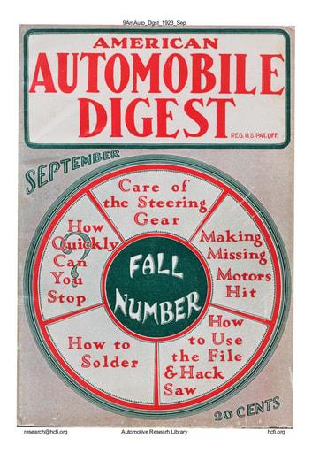 American Automobile Digest - 1923 September