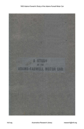 1905 Adams Farwell A Study (24pgs)
