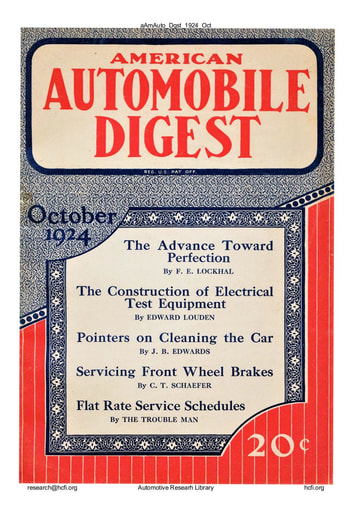 American Automobile Digest - 1924 October