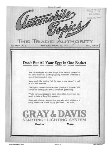 Auto Topics | 1914 Aug 22