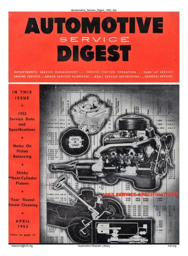 Automotive Service Digest 1952 04 Apr