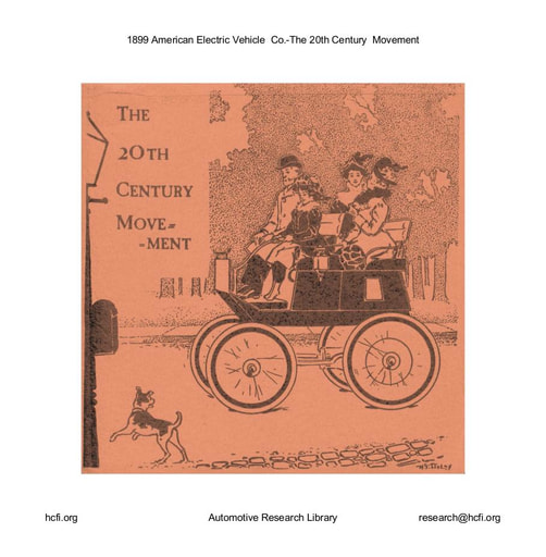 1899 American Electric Vehicle  Co    The 20th Century  Movement (7pgs)